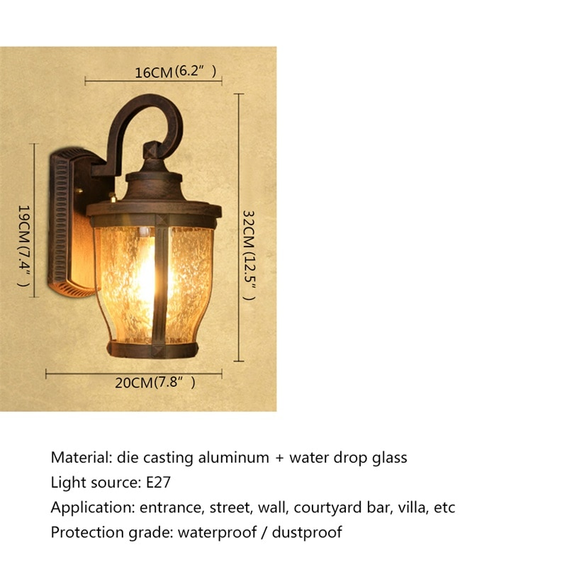 DLMH Retro Outdoor Wall Sconces Lights Classical Loft LED Lamp Waterproof IP65 Decorative For Home Porch Villa enlarge
