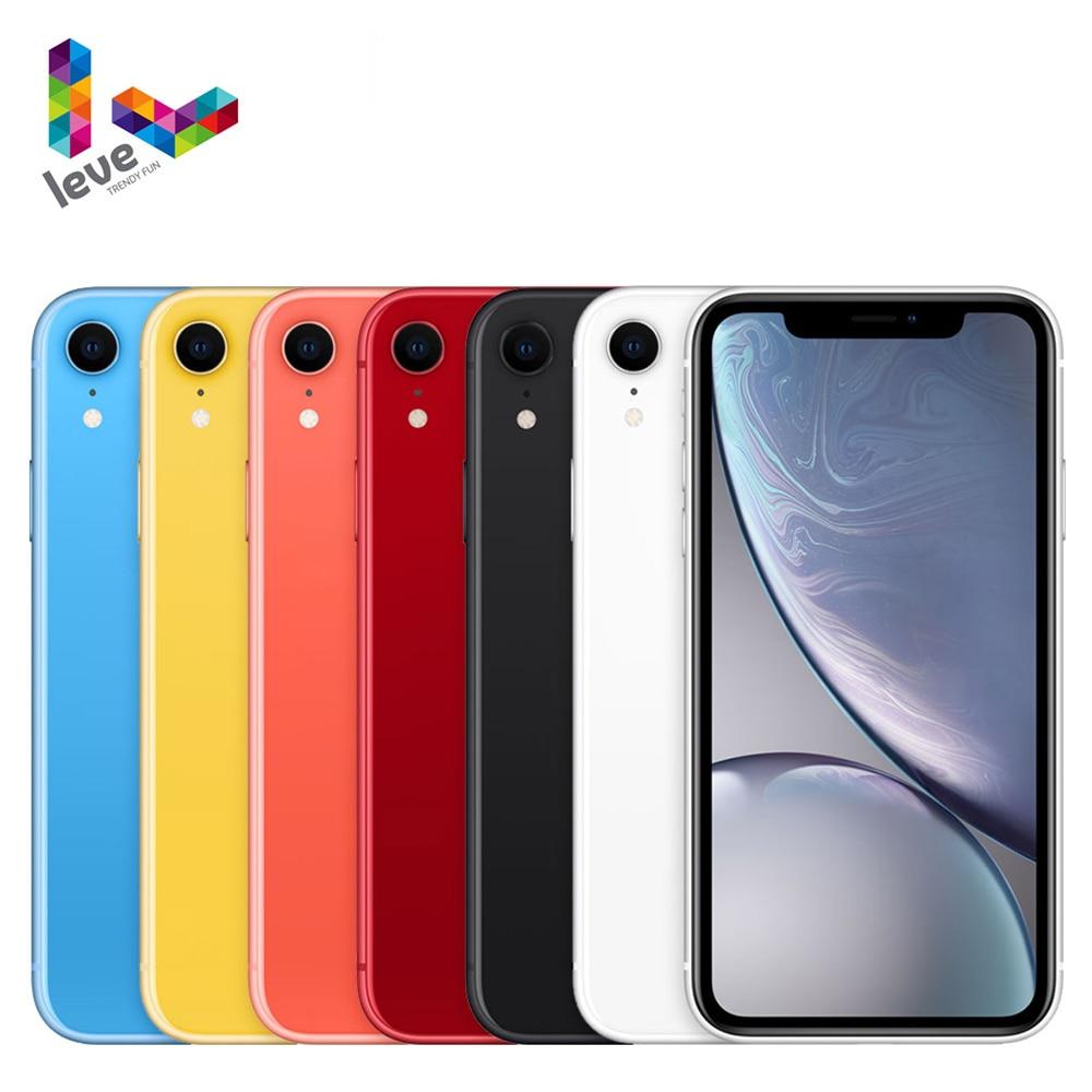 "Original iOS Apple iPhone XR Unlocked Used Mobile Phone 6.1"" A12 3GB RAM 64GB/128GB/256GB ROM Hexa Core 12MP 4G LTE Cellphone"