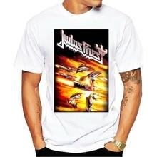 2021 loisirs mode 100% coton T-shirt col rond Judas prêtre puissance de feu Rob Halford Heavy Metal hommes
