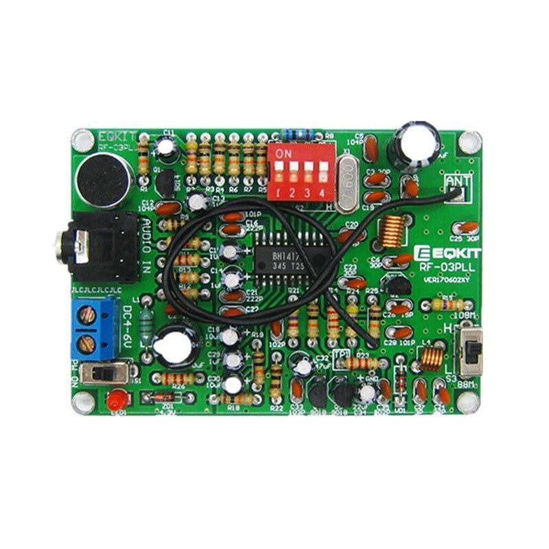 LEORY FM стерео передатчик Модуль MP3 рекордер DIY Набор радиостанций