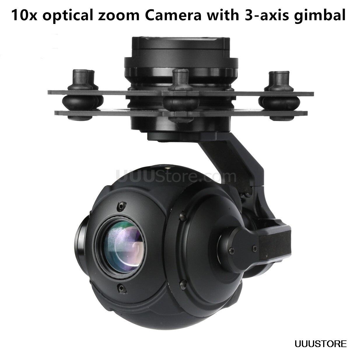 T10X-Pro FPV esférico 10x zoom óptico 1/3 CMOS cámara con actualización de cardán de 3 ejes de Tarot PEEPER T10X para FPV RC quadcopter