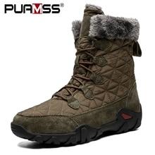Brand Men Boots Mid-Calf Winter Snow Boots Top Quality Keep Warm Rubber Waterproof Rain Boots Fur Plush Outdoor Footwear Sneaker