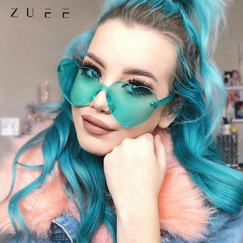 Women Love Heart Sunglasses Brand Designer New Fashion Cute Sexy Retro Cat Eye Vintage Cheap Sun Gla