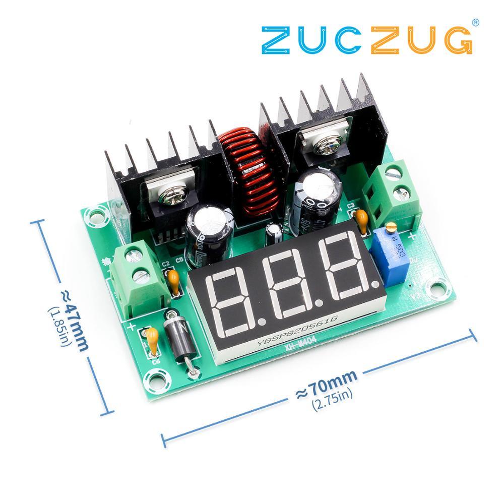 XH-M404 DC fuente de alimentación módulo reductor regulador de voltaje digital 8A regulador digital DC XL4016E1