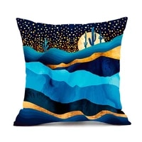 new black green light luxury mountains rivers landscape painting pillow case sofa car living room decorations art cushion cover