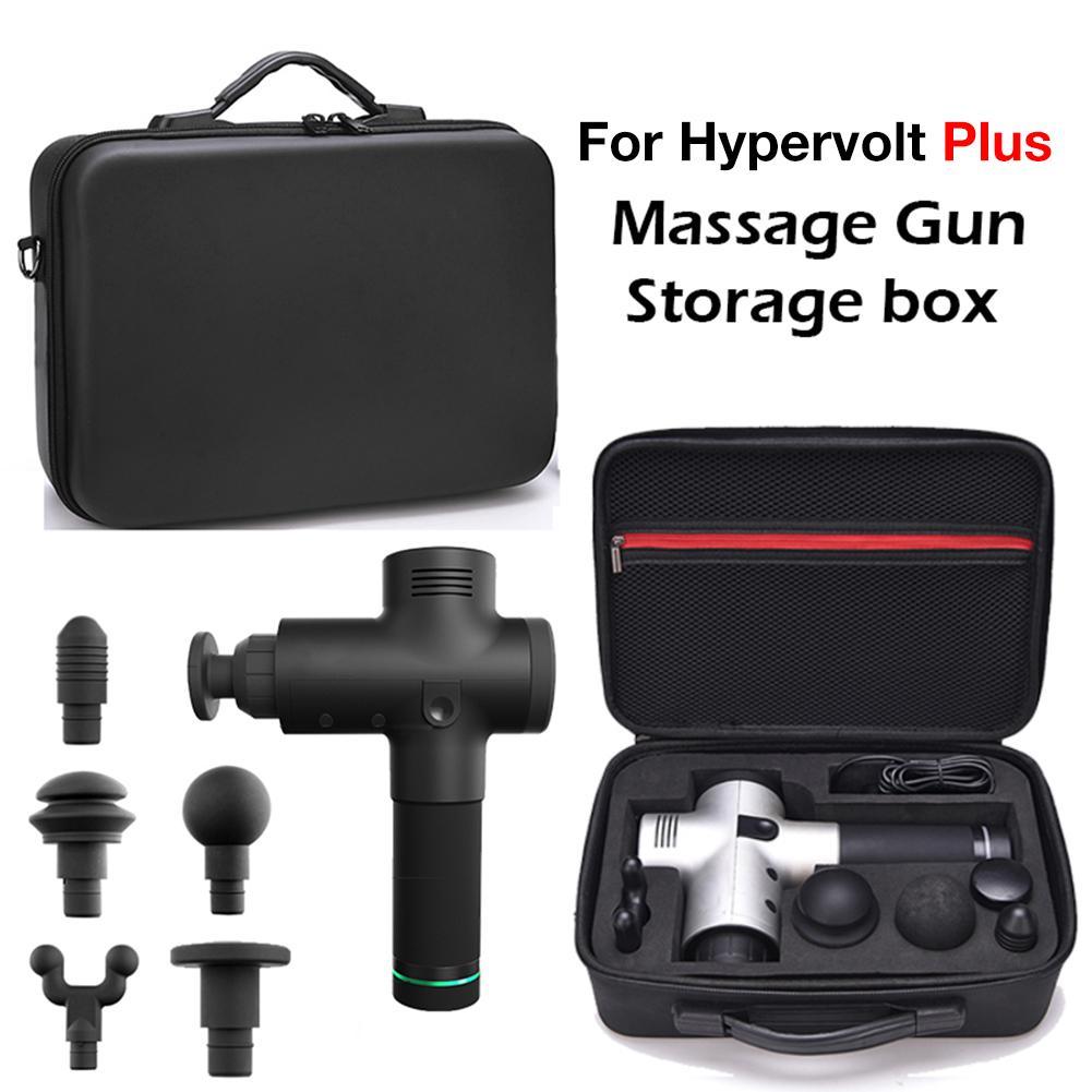 Para Hypervolt Plus Fascia caja de almacenamiento para pistola de masaje Hyperice bolsa de almacenamiento impermeable bandolera 5 cabezales de masaje