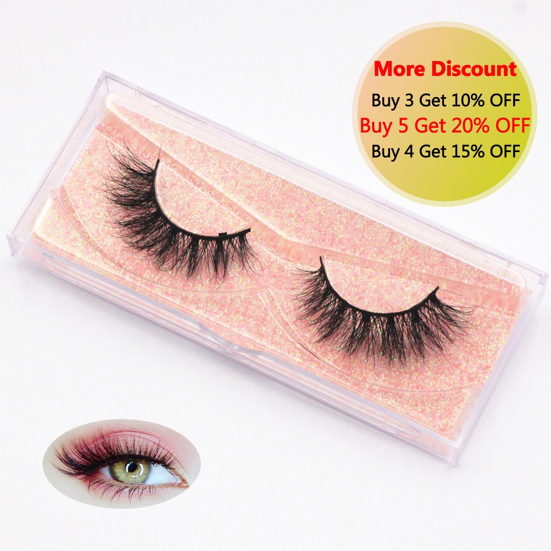 KEKEBAICHA 3D Mink Eyelash Real mink fur Handmade Crossing Lashes Individual Strip Natural Eyelashes