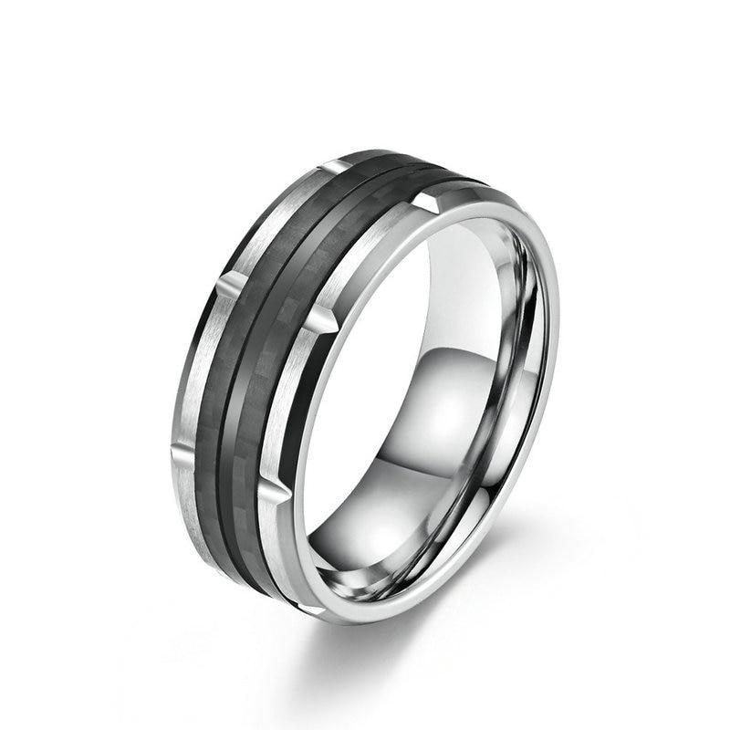 Gold Tungsten Carbide Engagement Rings for Men Women Wedding Bands Matte Finish Beveled Edges Comfort