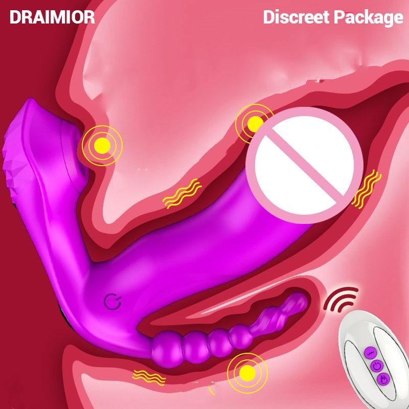 DRAIMIOR-هزاز لاسلكي للمرأة ، سراويل داخلية ، لعبة جنسية ، مص ، محفز البظر ، G-Spot ، للمهبل ، النشوة الشرجية ، لعبة جنسية