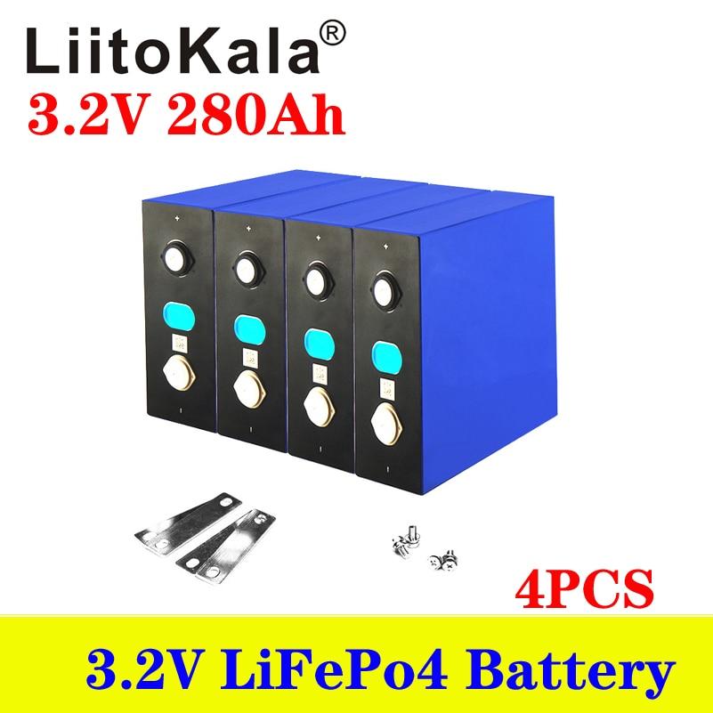 4 قطعة 3.2V 100Ah 150ah 200Ah 280Ah 310Ah 320AhLiFePO4 بطارية حزمة DIY 12V 24V دراجة نارية سيارة كهربائية الشمسية بطارية العاكس