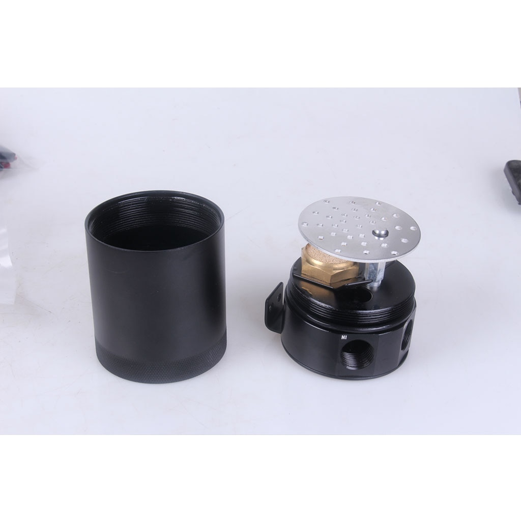 Universal 2-Port Oil Catch Can Tank Engine Air Oil Separator Tank Reservoir Kit 400ml Black