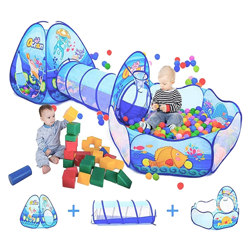 Portable Baby Playground Playpen for Children Large Kids Tent Ball Pool Bebe Balls Pit with Tunnel Baby Park Camping Dry Pool