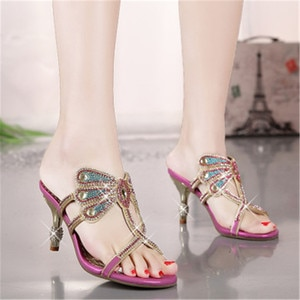 Evening Dress Sandals Rhinestone Women Sandals,new Design Hot Fashion and Sexy Wedding and Party ,women Shoesa061 Big Size 33-41