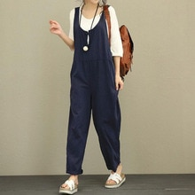 Jumpsuit Plus Size Loose Trousers Wide Leg Overalls Ladies Fashion Loose All Match Rompers Casual Ko