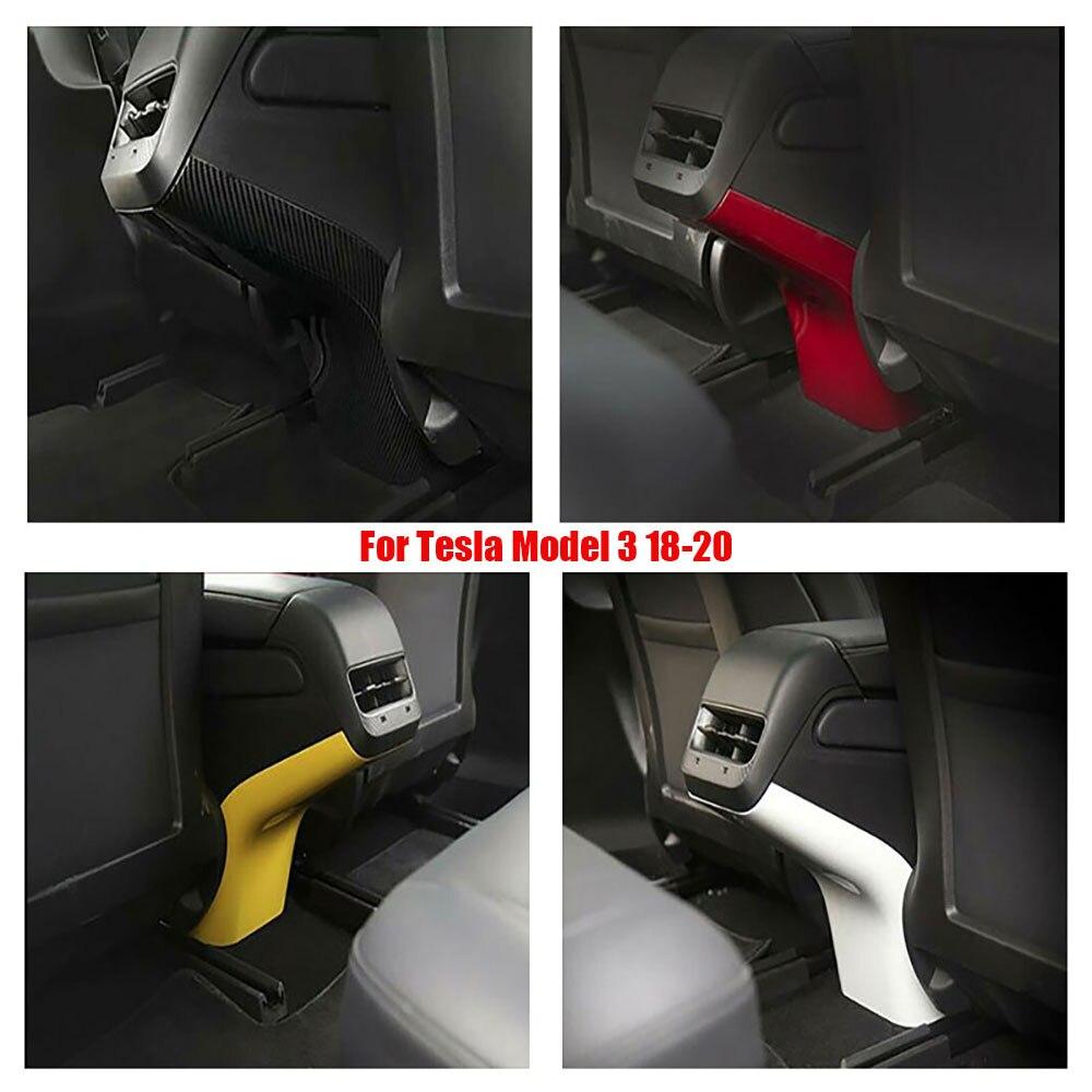 Para Tesla Model 3 ABS salida de ventilación de aire trasera cubierta Anti suciedad embellecedor 4 colores 18-20