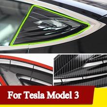 Rear Window Triangle Decorative Cover Trim For Tesla Model 3 car Accessory A Pillar Side Window Patc
