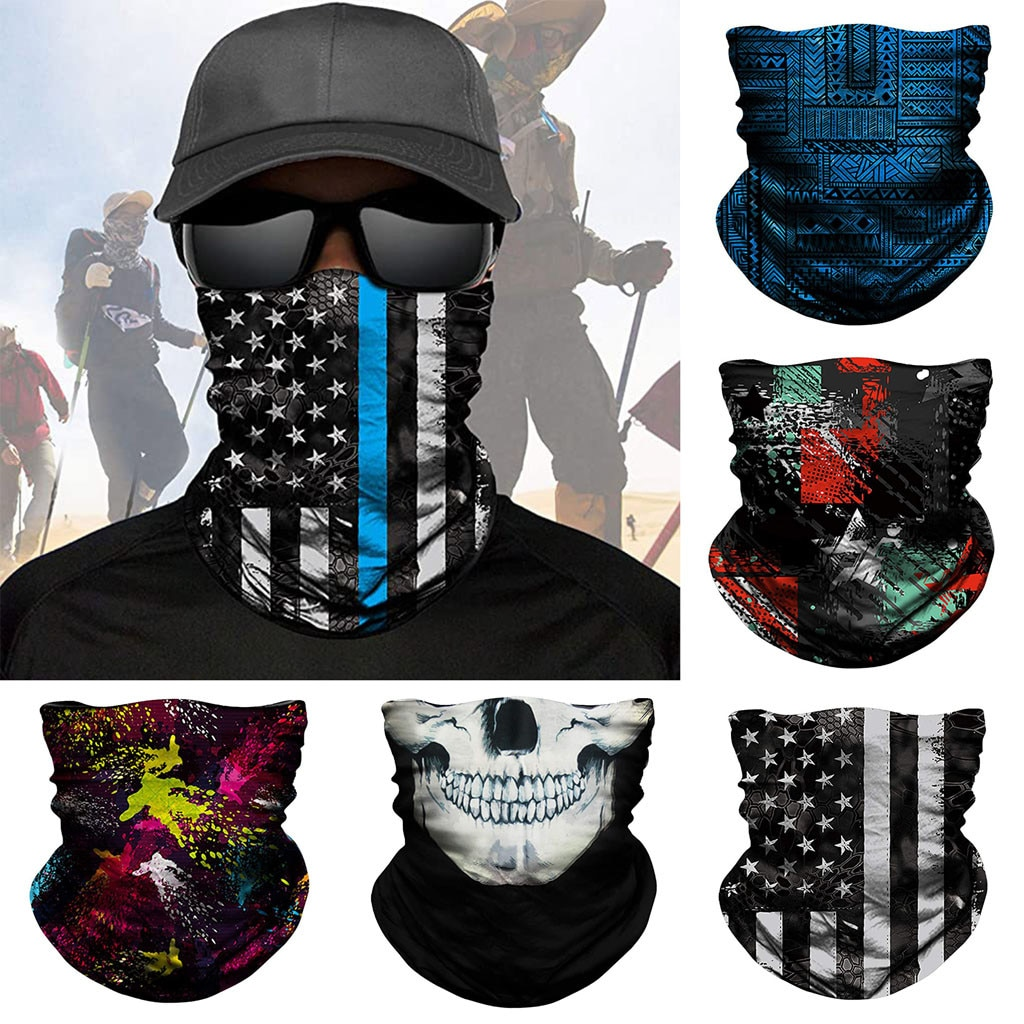 3D Seamless Magic Scarf Outdoor Sport Bandana Military Tube Scarf Fishing Cycling Tactical Hiking Face Cover Neck Gaiter Scarves skull magic facemask tactical scarf mask men women neck gaiter outdoor sport cycling hiking bandana headband 3d face cover