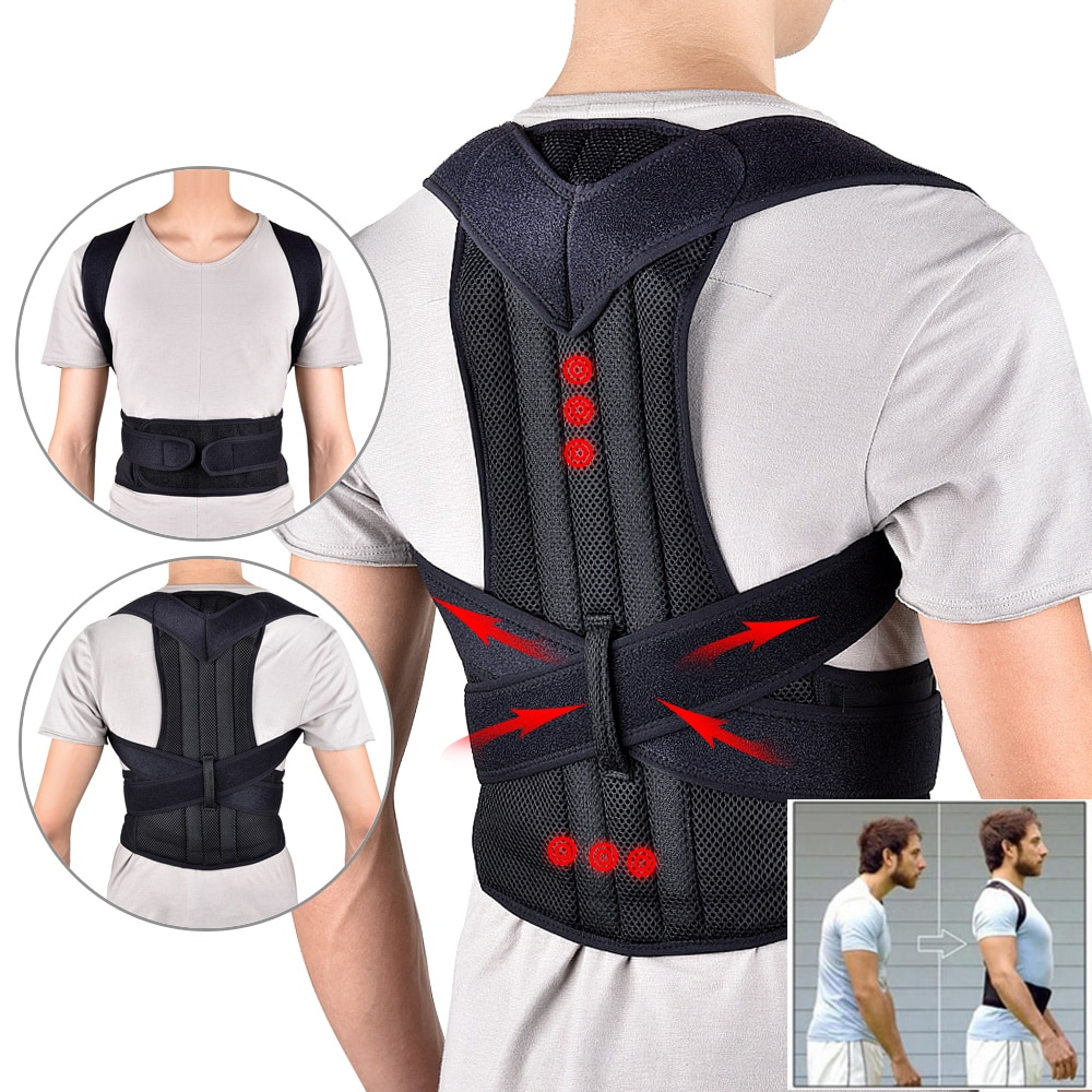 Back Waist Corrector Adjustable Adult Correction Belt Waist Trainer Shoulder Lumbar Brace Spine Supp