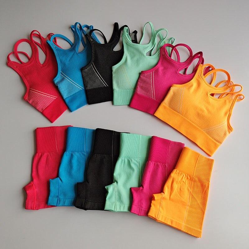 Conjunto De Yoga Para Mujer, Ropa Deportiva Vital Sin Costuras, Sujetador Para...