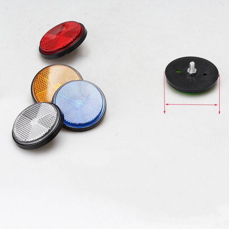 1 PC Bicycle Stickers Bicycle Bike Round Reflector Safety Night Cycling Reflective Bike Accessories