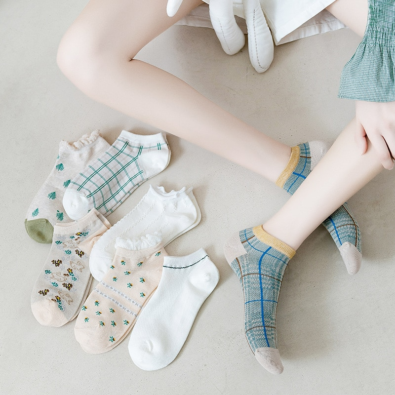 Socks Women's Socks Ankle Socks Spring and Autumn Thin Cute Japanese Style Spring and Summer Low-Cut