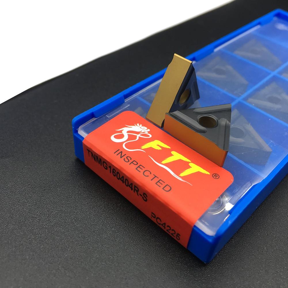 High Quality 10pcs TNMG160404R S PC4225 External Turning Tool Carbide Insert Cutting Lathe CNC tools Lathe cutter