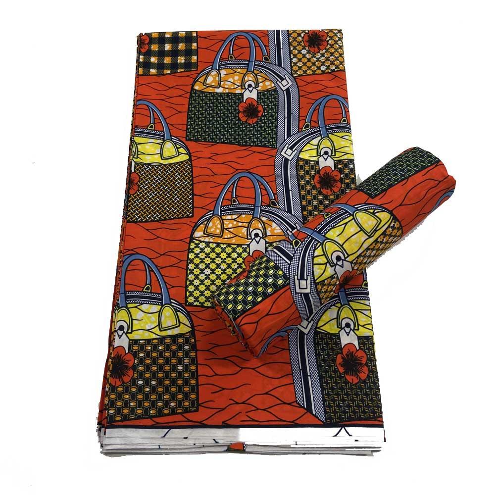 حقيقي النسيج الأفريقي الشمع عالية الجودة الأحمر 100% القطن أنقرة سوبر الشمع النسيج لفستان النمط الأفريقي 6 ياردة