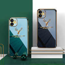 Luxury Phone Case For iPhone 11 12 Pro Max Plating Silicone Cover For iPhone 12 Mini 11Pro XR X XS Max Deer Pattern Soft Case