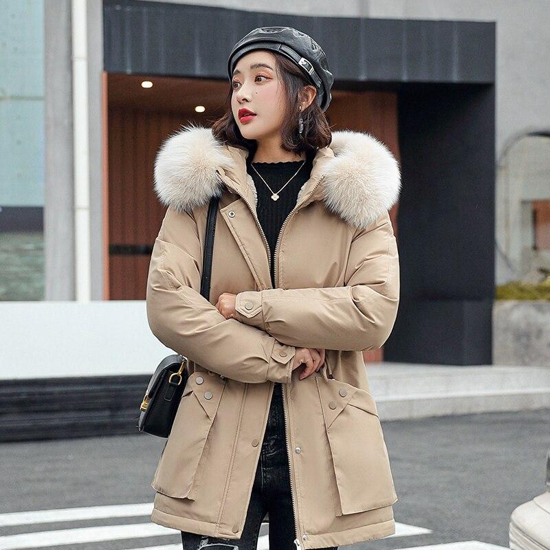 2021 الاصطناعي الفراء طوق الشتاء سترة النساء ملابس الشتاء والخريف عالية الجودة سترات أبلى المرأة معاطف طويلة