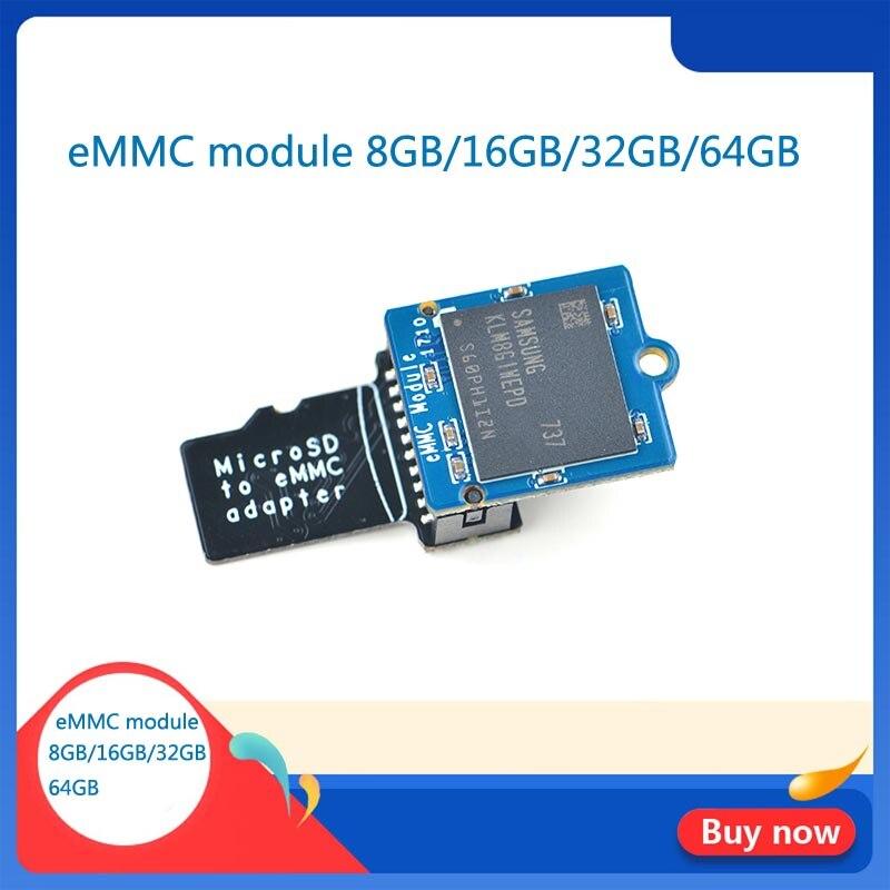EMMC Módulo 8GB 16GB 32GB 64GB microSD a eMMC adaptador T2