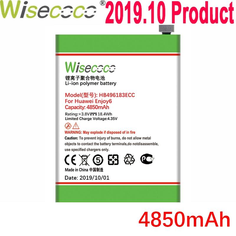 Wisecoco 4850mAh HB496183ECC батарея для Huawei Enjoy 6 Enjoy 6 Dual SIM NCE-AL00 NCE-AL10 телефон + номер отслеживания