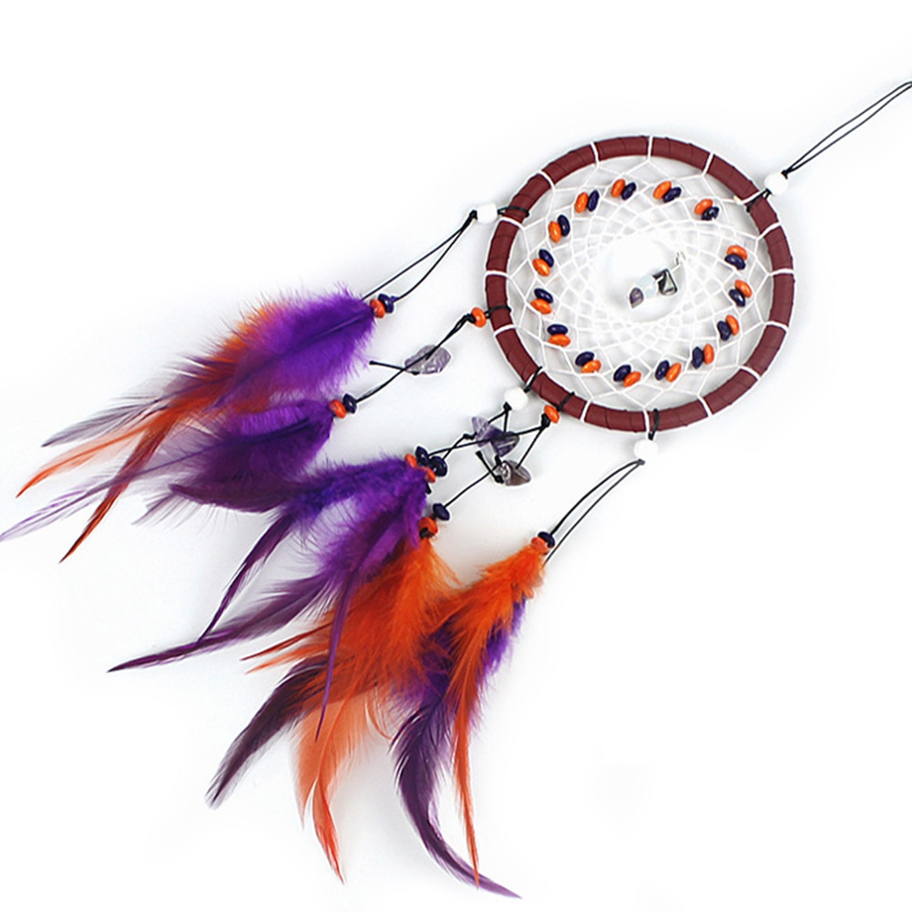 Feather Dream Catcher Natural Wall Hanging Ornaments Ceiling Decor for Bedroom Decor Wedding Decorations Chic Party Home Decor