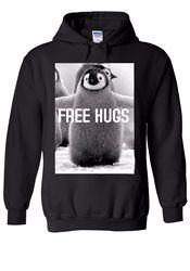 Pinguim livre abraços engraçado animal das mulheres dos homens unisex camisola com capuz superior 1354 inverno verão casaco streetwear ginásio jogger hoodies