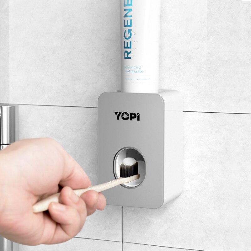 Диспенсер для зубной пасты в ванную комнату, настенный выжиматель для зубной пасты, автоматический пыленепроницаемый держатель для зубных ... зубной гель экопром cliny к104 75мл