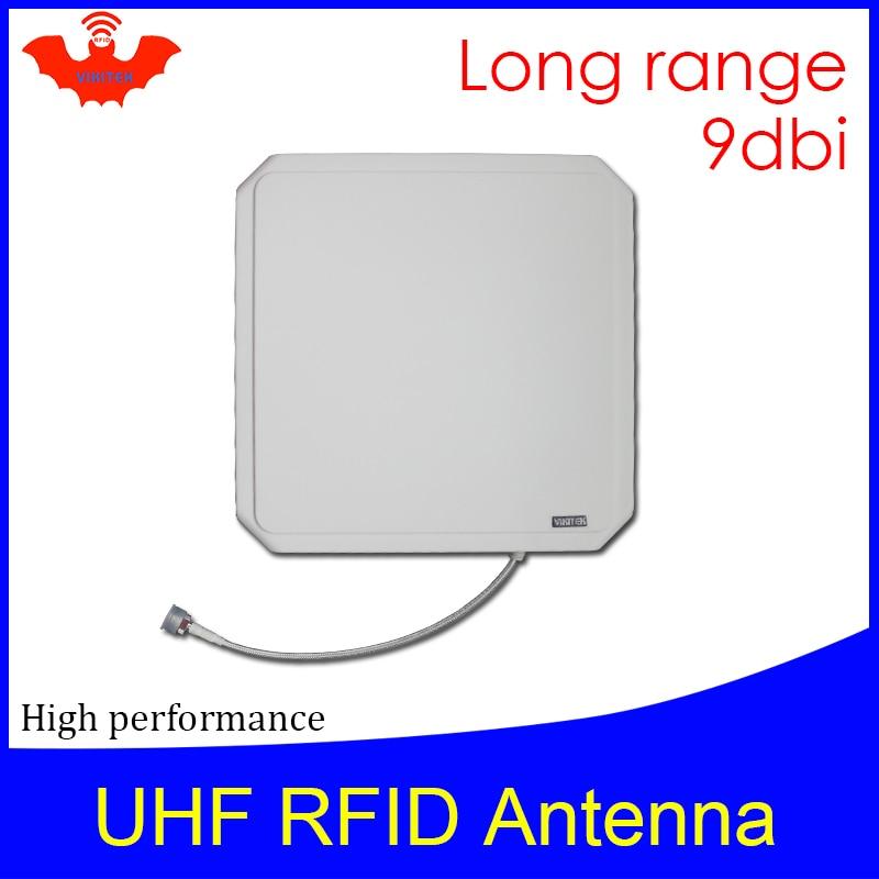 هوائي RFID UHF Vikitek VA094 عالي الأداء 915 ميجاهرتز لوحة RFID طويلة المدى 9dBic 902-928 ميجاهرتز يستخدم لقارئ rfid