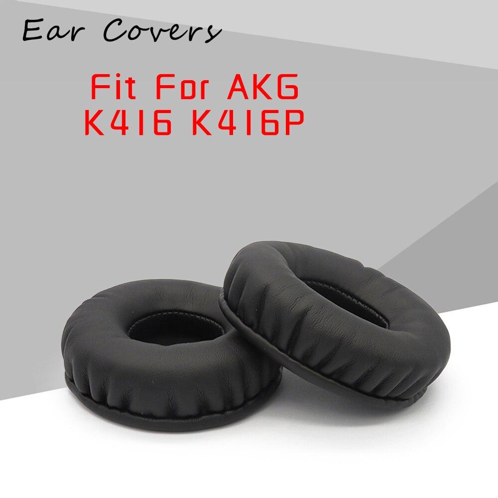 Ear Pads For AKG K416 K416P Earpads Headphone Replacement Headset Ear Pad PU Leather Sponge Foam
