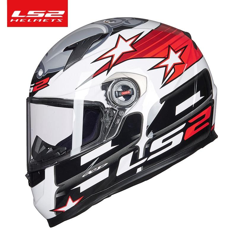 خوذة دراجة نارية كاملة الوجه للرجال والنساء ، معتمدة من ECE ، LS2 ، FF358