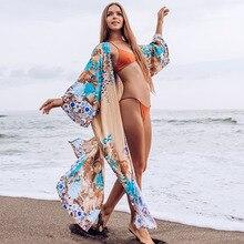 Yeni Bikini kapak up artı boyutu uzun plaj elbise Robe Plage Pareo Sarong Saida de Praia Beachwear tunik plaj kapak-ups