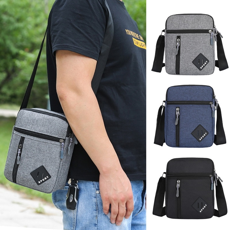 2021 Mannen Messenger Bag Crossbody Schoudertassen Reistas Man Portemonnee Kleine Sling Pack Voor Werk Business Mannen tas