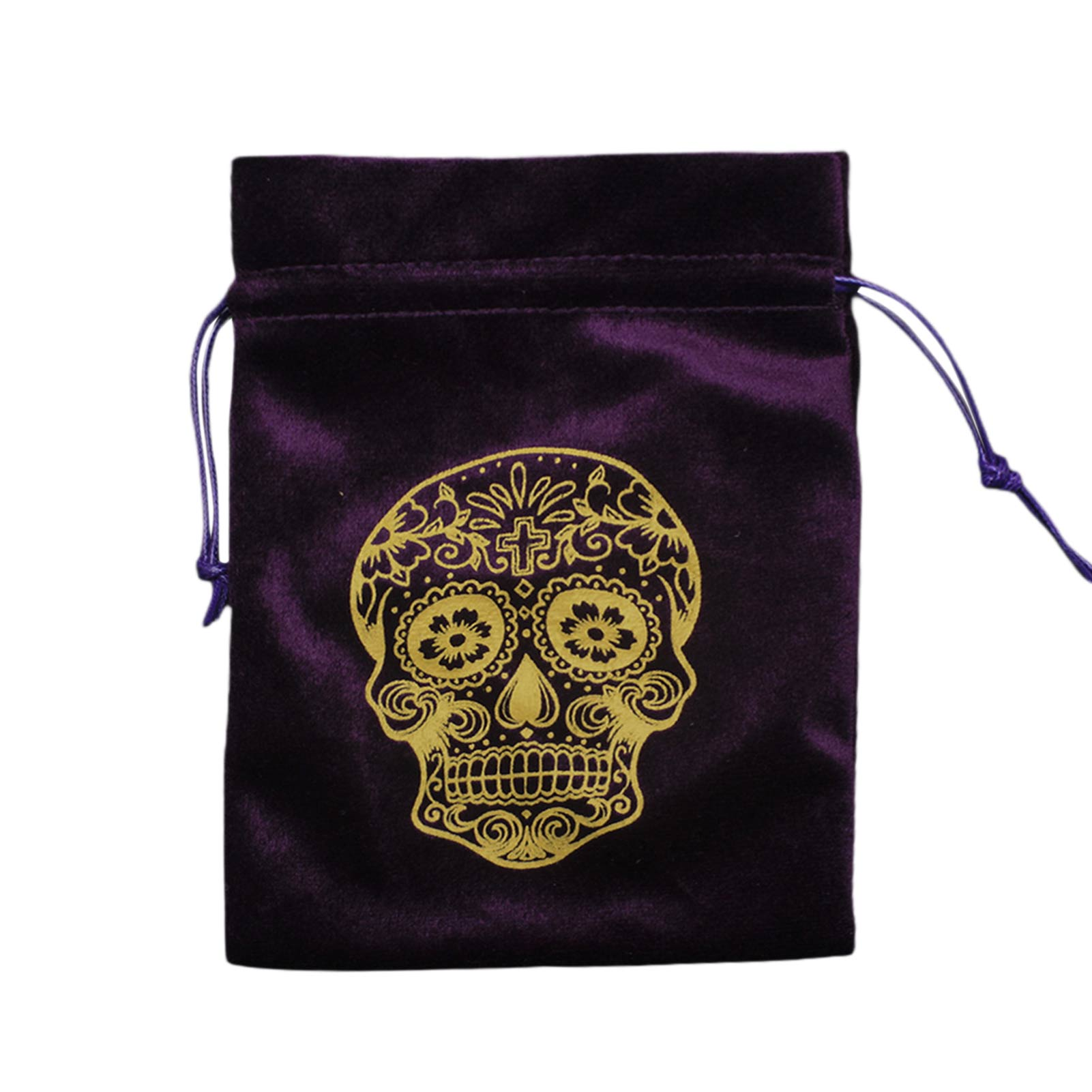 Skull Pattern Velvet Tarot Card Storage Bag Board Game Card Mini Drawstring Package Bag Jewelry Crystal Storage Witch Well-liked