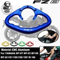 for yamaha fz1 fz6 fz6n fz8 xj6 yzf r1 mt 03 mt 07 mt 09 cnc motorcycle passenger handles the fuel tank grab bar handle armres