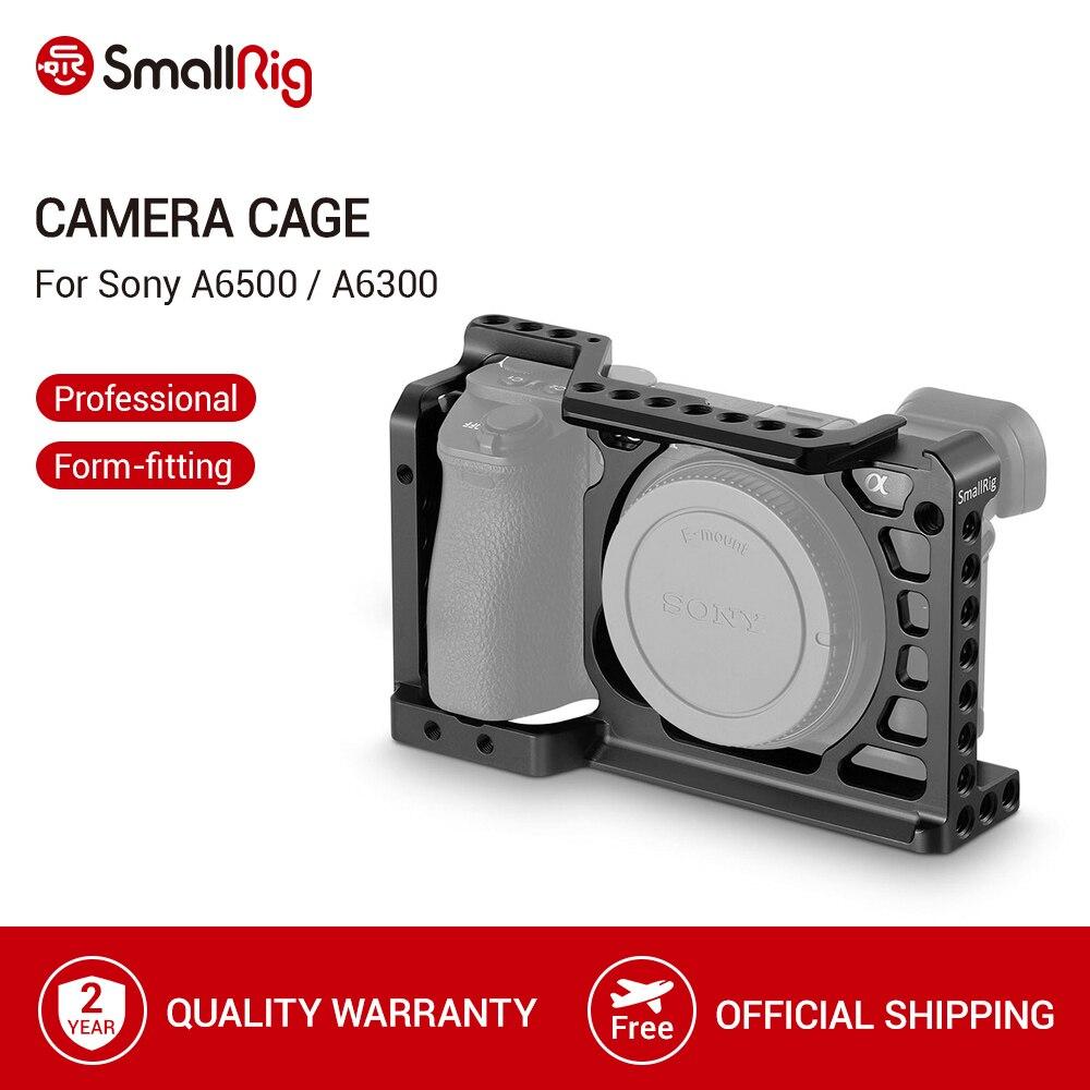 Jaula de cámara de aleación de aluminio SmallRig para Sony A6500/A6300 versión mejorada equipo de cámara Dslr protectora para Sony A6500 -1889