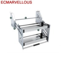 Para Armario De Cosina Mutfak Malzemeleri Stainless Steel Hanging Rack Cocina Cozinha Kitchen Cabinet Storage Basket