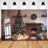 christmas backdrop vintage fireplace mirror baby portrait vinyl photography background for photo shoot photozone photophone prop