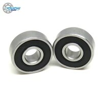 10pcs 6x17x6mm s606 2rs 440c stainless steel ball bearings 606 606rs s606rs 6176 micro motors hot press miniature bearing