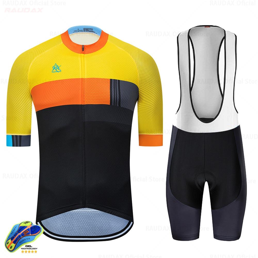 UCINEOS-Conjunto de ropa de Ciclismo para Hombre, Maillot Largo, Triatlón