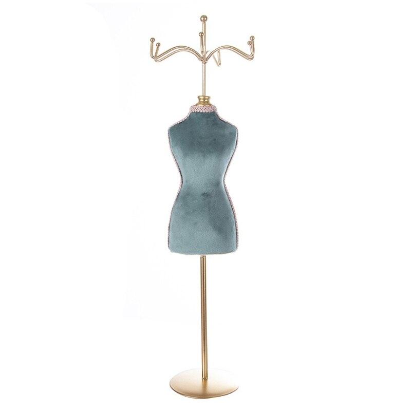 Органайзер для украшений N58F в стиле ретро, подвесная синяя бронзовая Подставка для украшений в стиле ретро, декоративная подставка, Подароч... подставка для украшений marquis лебедь 7085 mr