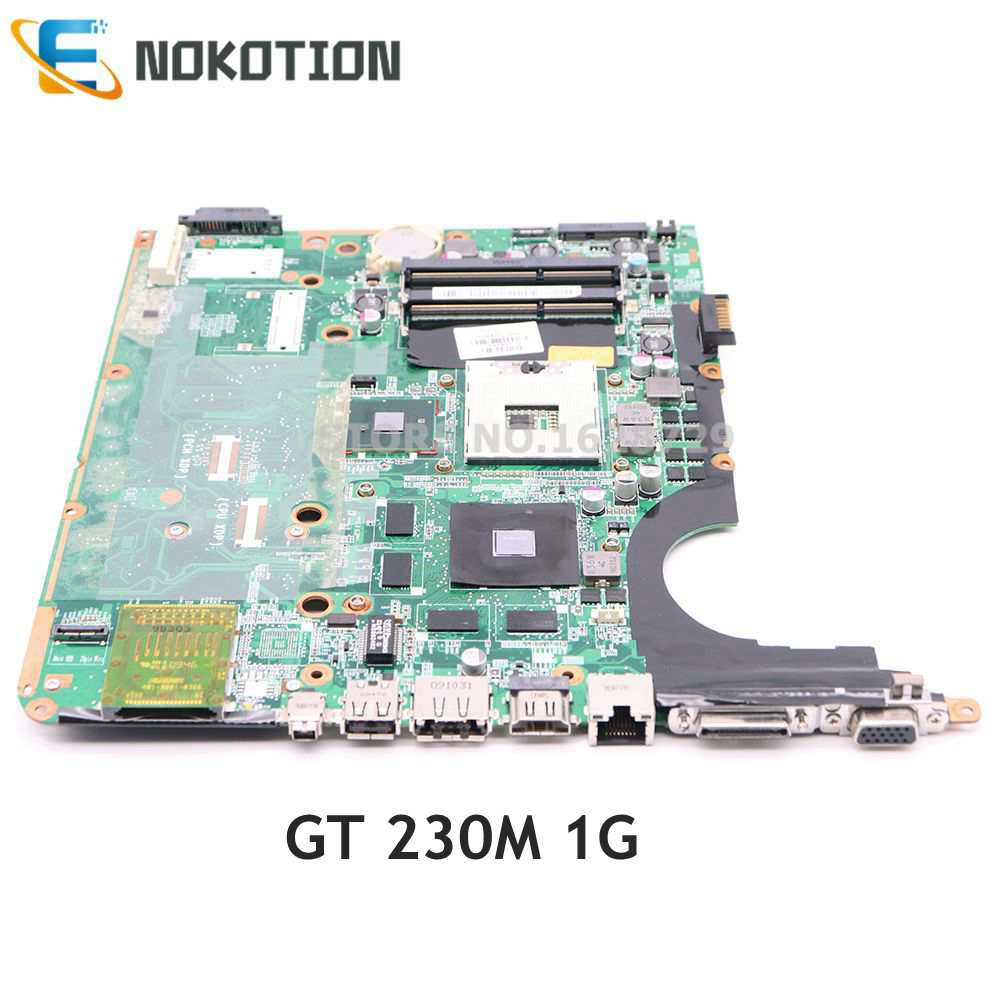 NOKOTION 575477-001 DA0UP6MB6E0 اللوحة الأم للكمبيوتر المحمول HP بافيليون DV7-3000 سلسلة PM55 DDR3 GT230M GPU اختبار كامل
