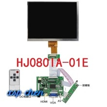 8 Inch Lcd-scherm HJ080IA-01E 1024*768 Ips Hd Lcd-scherm + Hdmi/Vga/2AV Controle Driver board