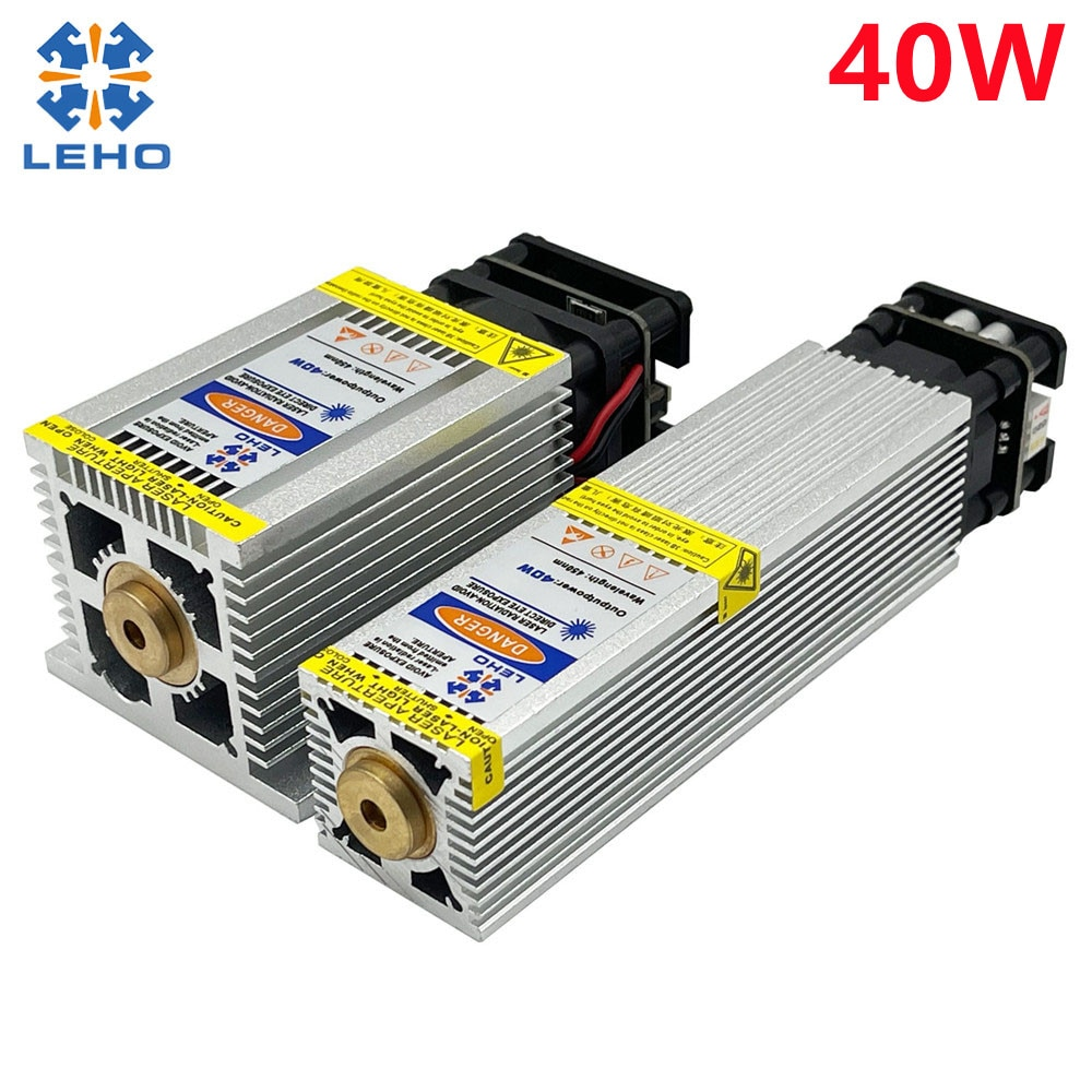450nm 40W Laser Module Laser Head Fixed Focus Fast Engraving Suitable for CNC Engraving Machine
